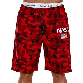 Vêtements Homme Shorts / Bermudas Monsieurmode Short fashion pour homme Short Nasa 3711 rouge Rouge