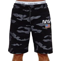 Vêtements Homme Shorts / Bermudas Monsieurmode Short homme camouflage Short Nasa NE3711 noir Noir
