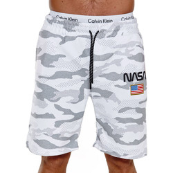 Vêtements Homme Shorts / Bermudas Monsieurmode Short camouflage Nasa Short NE3711 blanc neige Blanc