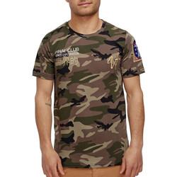 Vêtements Homme T-shirts manches courtes Monsieurmode T-shirt camouflage homme T-shirt Nasa 3713 vert Vert