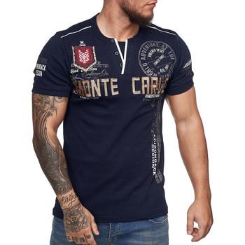 Vêtements Homme T-shirts manches courtes Monsieurmode T-shirt Monte Carlo homme T-shirt 3459 bleu marine Bleu