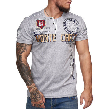 Vêtements Homme T-shirts manches courtes Monsieurmode T-shirt homme Monte Carlo T-shirt 3459 gris Gris