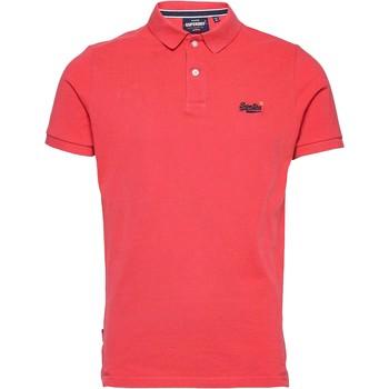 Vêtements Homme Polos manches courtes Superdry Classic Pique Rouge