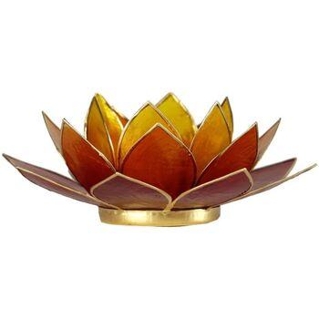 Maison & Déco Bougeoirs, photophores Zen Et Ethnique Porte Bougie Fleur de Lotus 3 couleurs et Or Orange