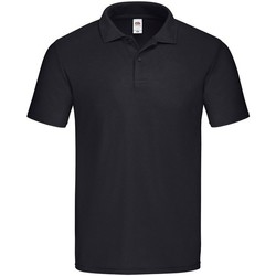 Vêtements Homme Polos manches courtes Fruit Of The Loom  Noir