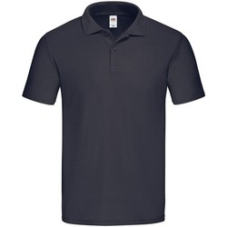 Vêtements Homme Polos manches courtes Fruit Of The Loom  Bleu marine foncé