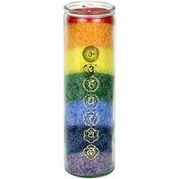 Maison & Déco Bougies, diffuseurs Zen Et Ethnique Bougie en stearine 100 heures - 7 chakras Multicolore