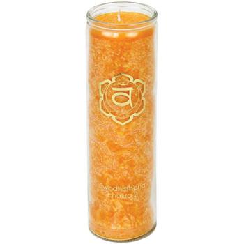 Maison & Déco Bougies, diffuseurs Zen Et Ethnique Bougie en stearine 100 heures - chakra 2 Orange