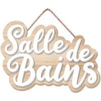 Maison & Déco Tableaux, toiles Retro Plaque de porte pour Salle de Bain Beige