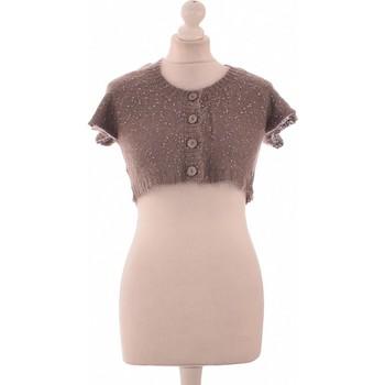 Vêtements Femme Gilets / Cardigans Des Petits Hauts Gilet Femme  38 - T2 - M Marron