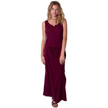 Vêtements Femme Robes longues Coton Du Monde Nadine Grenat