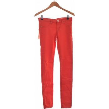 Vêtements Femme Jeans slim Freesoul Jean Droit Femme  34 - T0 - Xs Rouge