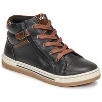 Chaussures Garçon Baskets montantes Mod'8 KYNATA Marine / Marrron