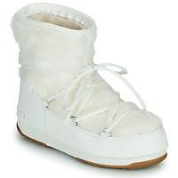 Chaussures Femme Bottes de neige Moon Boot MOON BOOT MONACO LOW FUR WP 2 Blanc