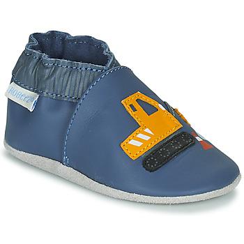 Chaussures Garçon Chaussons bébés Robeez YARD ROAD Bleu / Jaune
