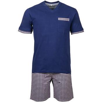 Vêtements Homme Pyjamas / Chemises de nuit Christian Cane - pyjama court Bleu rouge