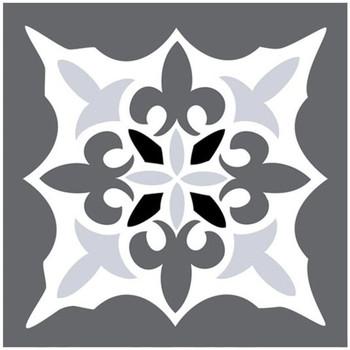 Maison & Déco Stickers Retro 6 stickers carreaux de ciment nuances de gris 15 x 15 cm Gris