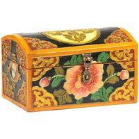 Maison & Déco Malles, coffres de rangements Zen Et Ethnique Petit Coffret tibétain double dorje Noir