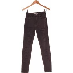 Vêtements Femme Jeans droit Bershka Jean Droit Femme  34 - T0 - Xs Noir
