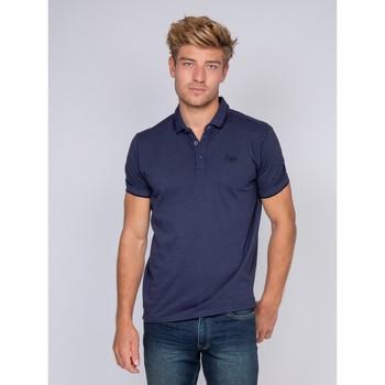 Vêtements Homme Polos manches courtes Ritchie Polo pur coton PRONE Bleu marine