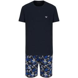 Vêtements Homme Pyjamas / Chemises de nuit Ea7 Emporio Armani Pyjama EA7 Emporio Bleu
