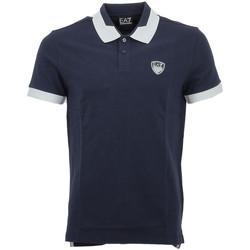 Vêtements Homme Polos manches courtes Ea7 Emporio Armani Polo EA7 Emporio Bleu
