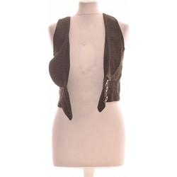 Vêtements Femme Gilets / Cardigans Mango Gilet Femme  38 - T2 - M Noir