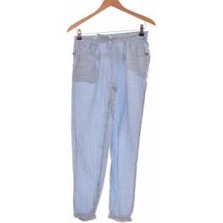 Vêtements Femme Pantalons Creeks Pantalon Droit Femme  34 - T0 - Xs Bleu
