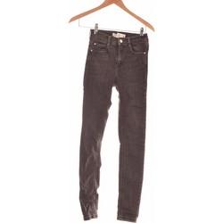 Vêtements Femme Jeans slim Pull And Bear Jean Slim Femme  34 - T0 - Xs Gris