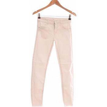Vêtements Femme Jeans slim Bershka Jean Slim Femme  34 - T0 - Xs Blanc