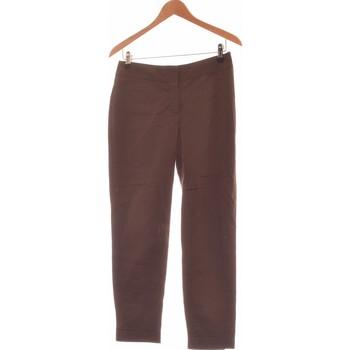 Vêtements Femme Pantalons Camaieu Pantalon Slim Femme  38 - T2 - M Marron