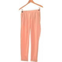 Vêtements Femme Pantalons Bershka Pantalon Droit Femme  34 - T0 - Xs Rose