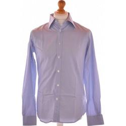 Vêtements Homme Chemises manches longues Balmain Chemise Manches Longues  40 - T3 - L Bleu