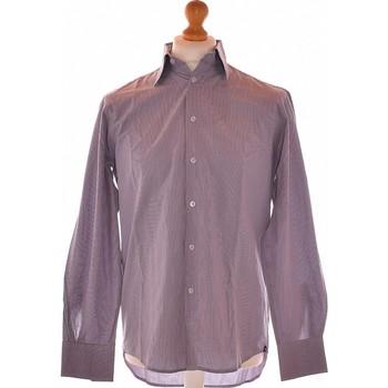 Vêtements Homme Chemises manches longues Balmain Chemise Manches Longues  40 - T3 - L Violet