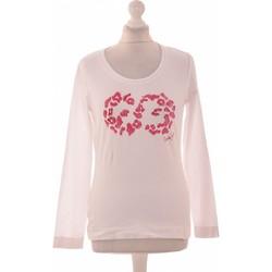Vêtements Femme T-shirts manches longues Escada Top Manches Longues  38 - T2 - M Blanc