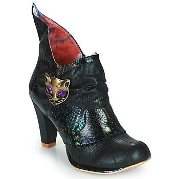 Chaussures Femme Bottines Irregular Choice MIAOW Noir / Vert
