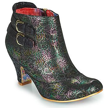 Chaussures Femme Bottines Irregular Choice THINK ABOUT IT Noir / Multicolore