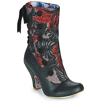 Chaussures Femme Bottines Irregular Choice REINETTE Noir / Rouge