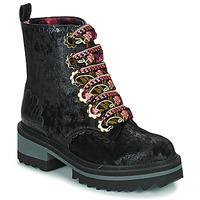 Chaussures Femme Boots Irregular Choice MORNING STROLL Noir