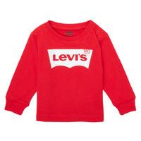 Vêtements Garçon T-shirts manches longues Levi's L/S BATWING TEE Rouge