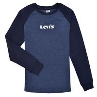 Vêtements Garçon T-shirts manches longues Levi's LONG SLV WAFFLE TEE SHIRT Marine