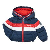 Vêtements Garçon Doudounes Levi's COLORBLOCK JACKET Bleu, rouge et blanc