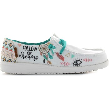 Chaussures Garçon Baskets basses Hey Dude WENDY YOUTH Bianco / multicolore