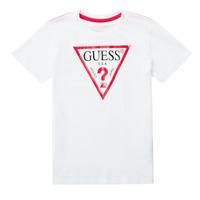 Vêtements Garçon T-shirts manches courtes Guess CELAVI Blanc