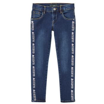 Vêtements Fille Jeans slim Guess PALINCA Bleu