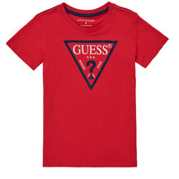 Vêtements Garçon T-shirts manches courtes Guess THERONN Rouge