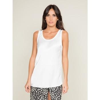 Vêtements Femme T-shirts & Polos Dona X Lisa Top soyeux FIRENZ Ecru