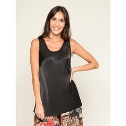 Vêtements Femme T-shirts & Polos Dona X Lisa Top soyeux FIRENZ Noir