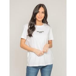 Vêtements Femme T-shirts manches courtes Dona X Lisa T-shirt col rond message FOMEREY Blanc