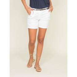 Vêtements Femme Shorts / Bermudas Dona X Lisa Short chino XORA Blanc